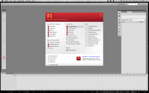 Open a new Flash file
