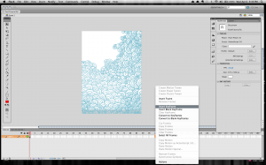 Setting the last keyframe for the background