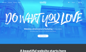 A screenshot of the Weebly.com homepage