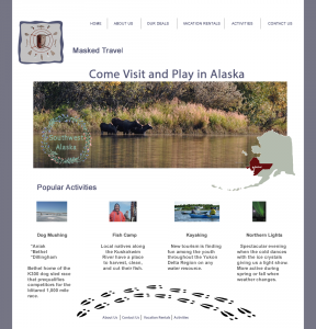 Travel Mockup Webpage